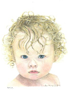 Coloured Pencil Drawing Baby