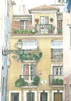Coloured Pencil Drawing Building