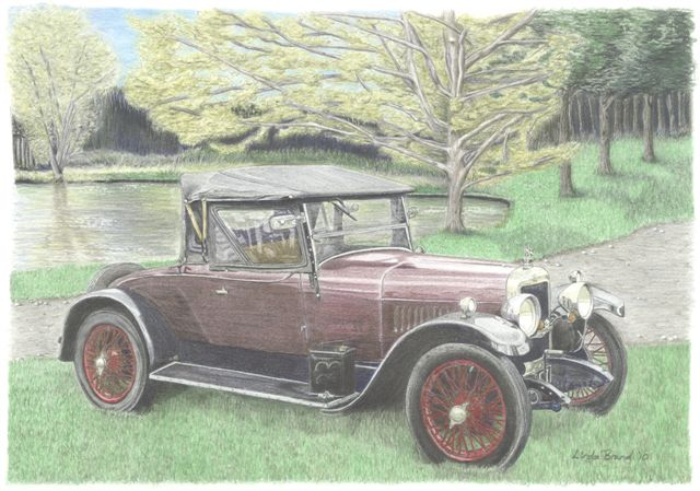 Coloured Pencil Drawing Motorcar